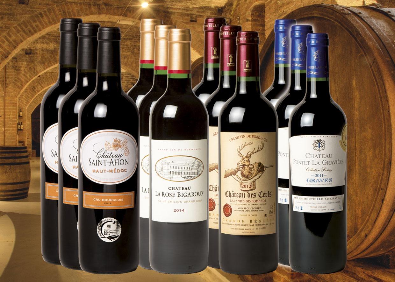 assortiment grands vins de prestige