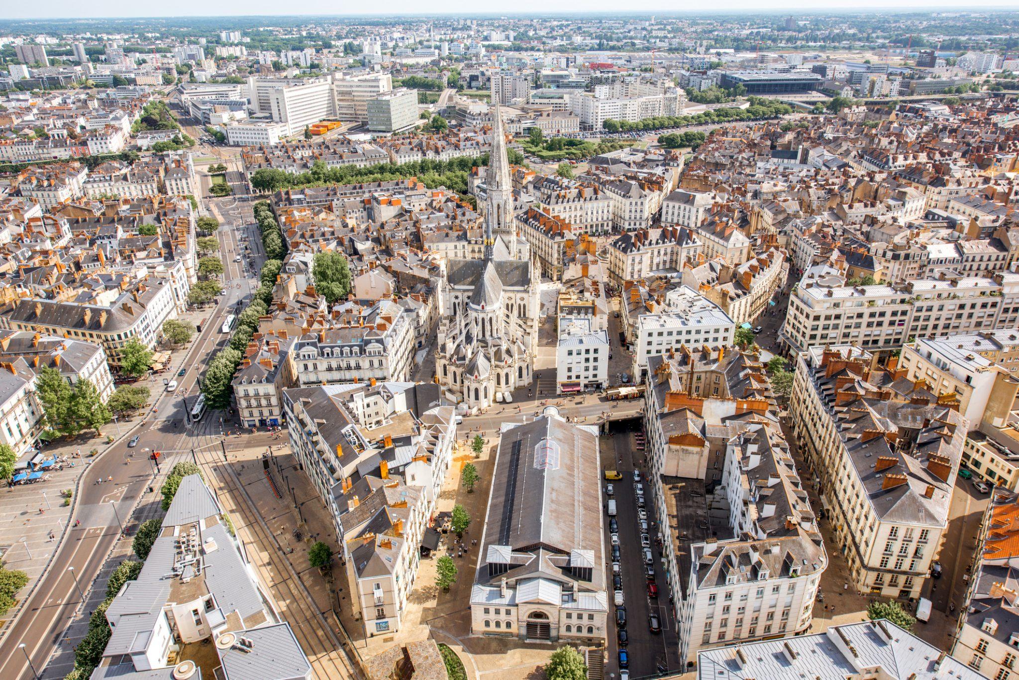 Vue aérienne Nantes prix immobilier agences