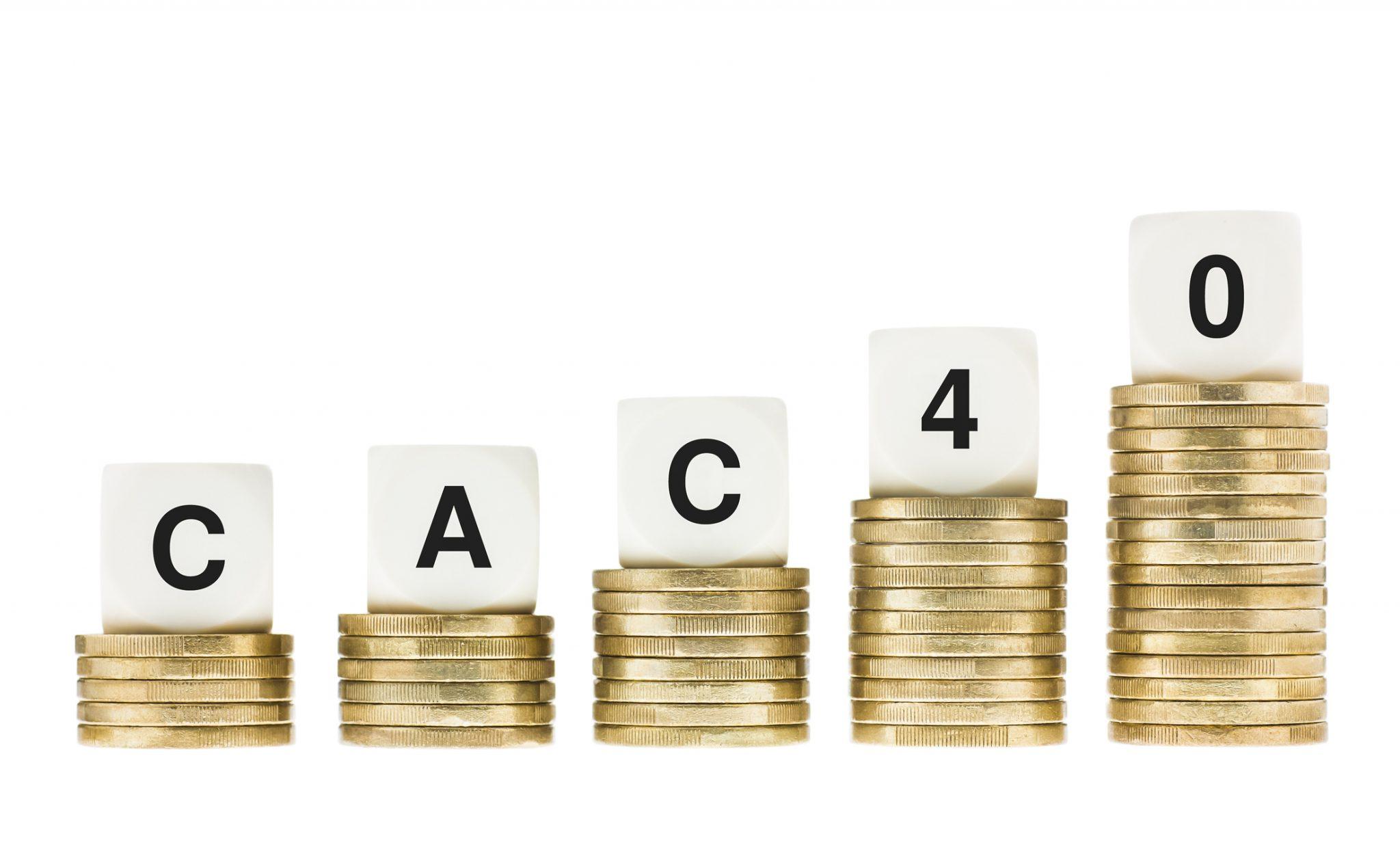 CAC 40 Paris Bourse semestriels trimestre