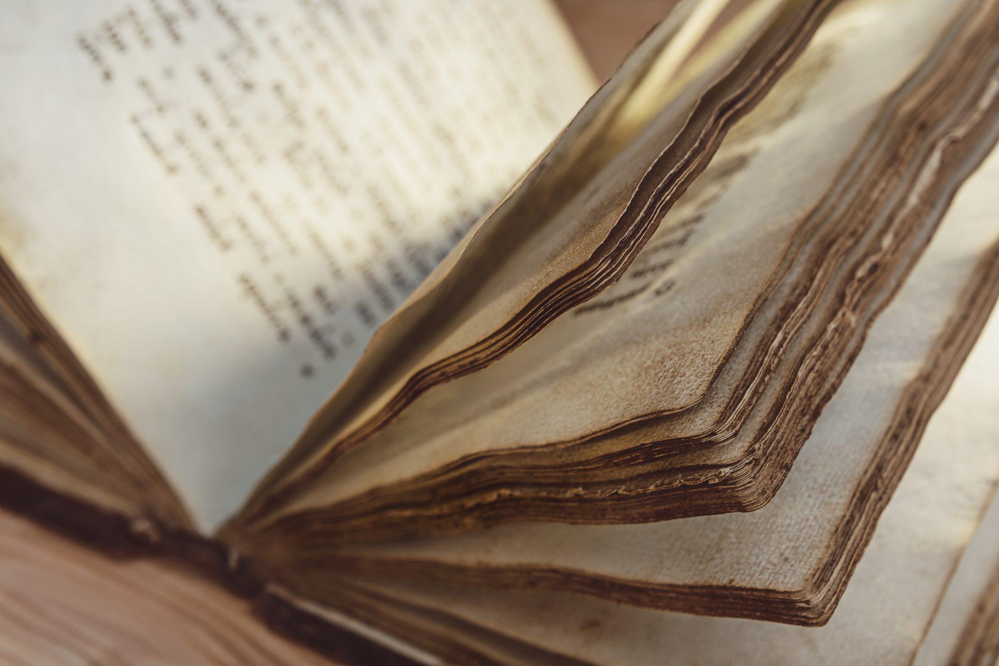 Vieux livre manuscrit