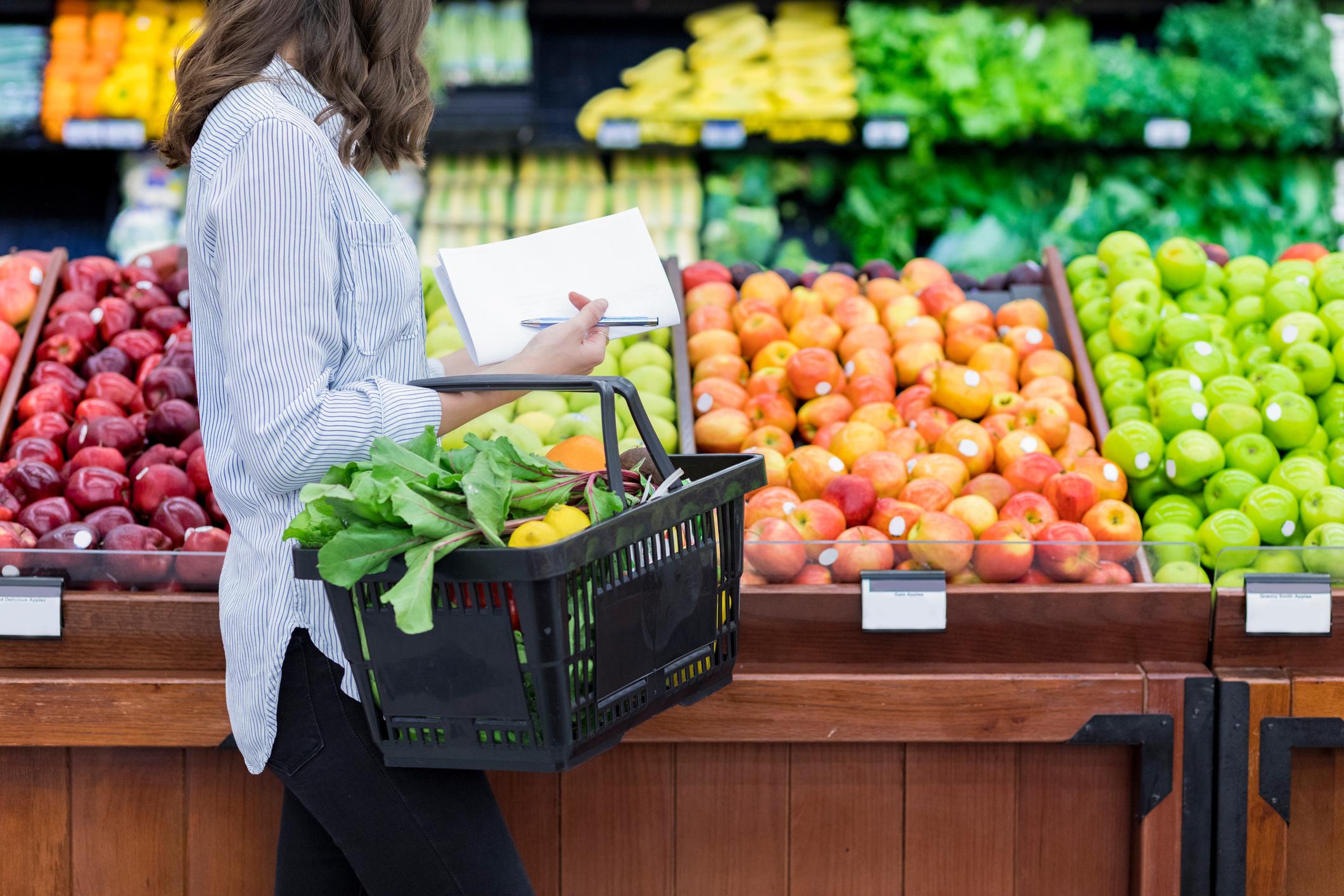 supermarché produits fruits légumes