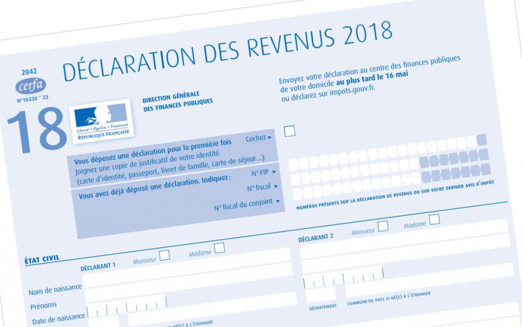 déclaration des revenus 2018 impôts 2019