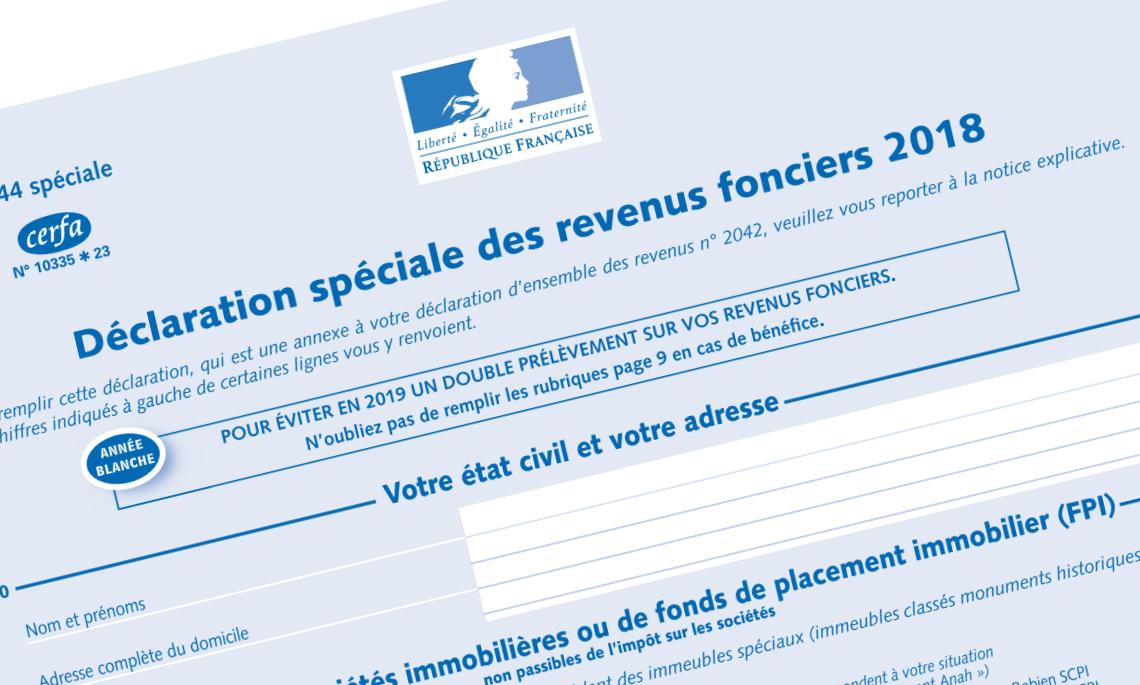 Déclaration revenus 2018 impôts 2019