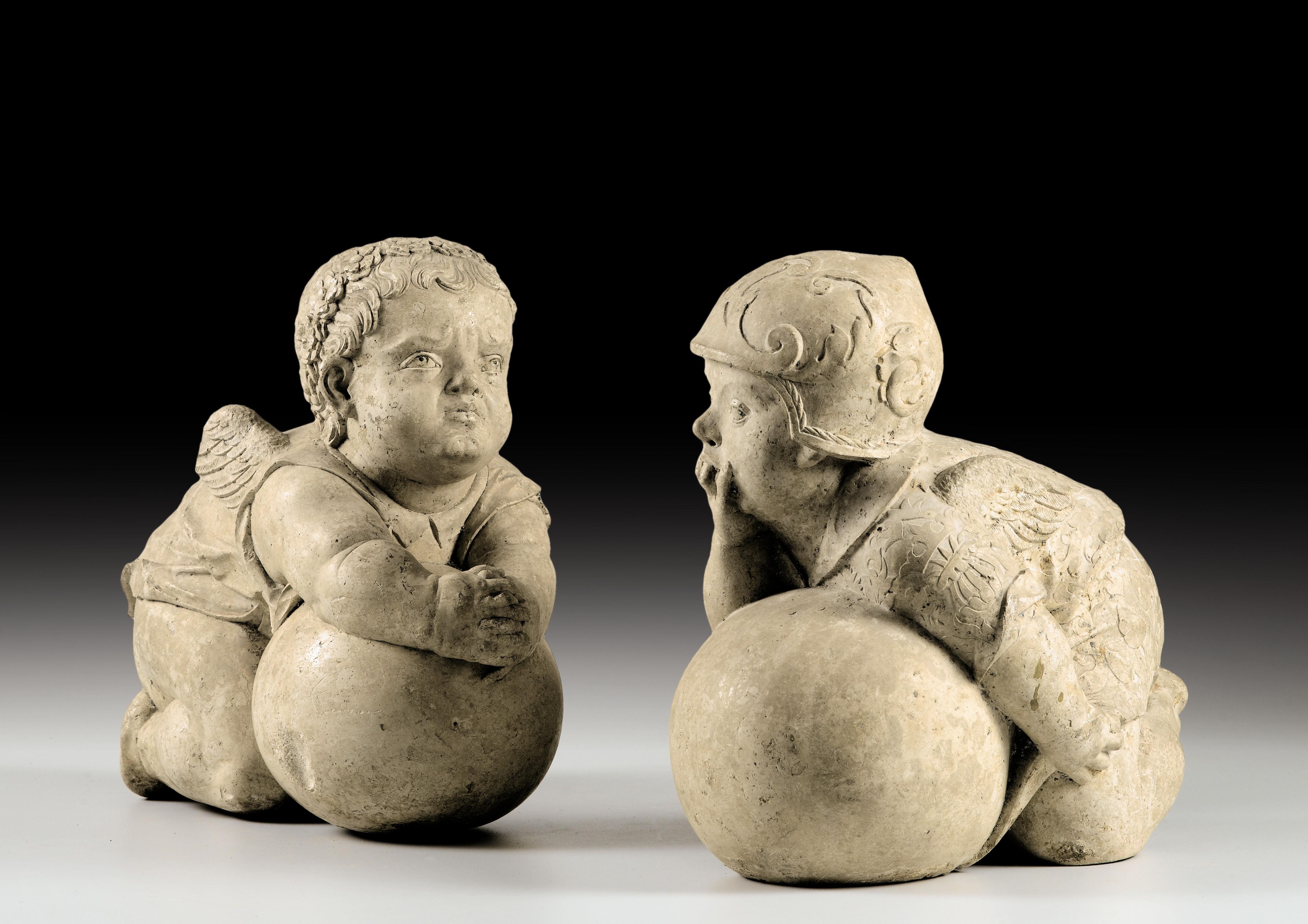 Paire de putti , Hans Daucher, pierre calcaire, Augsbourg, Allemagne du Sud, vers 1525-1530. Estimation : 1 à 1,5 million d'euros. Crédit: Sotheby's.