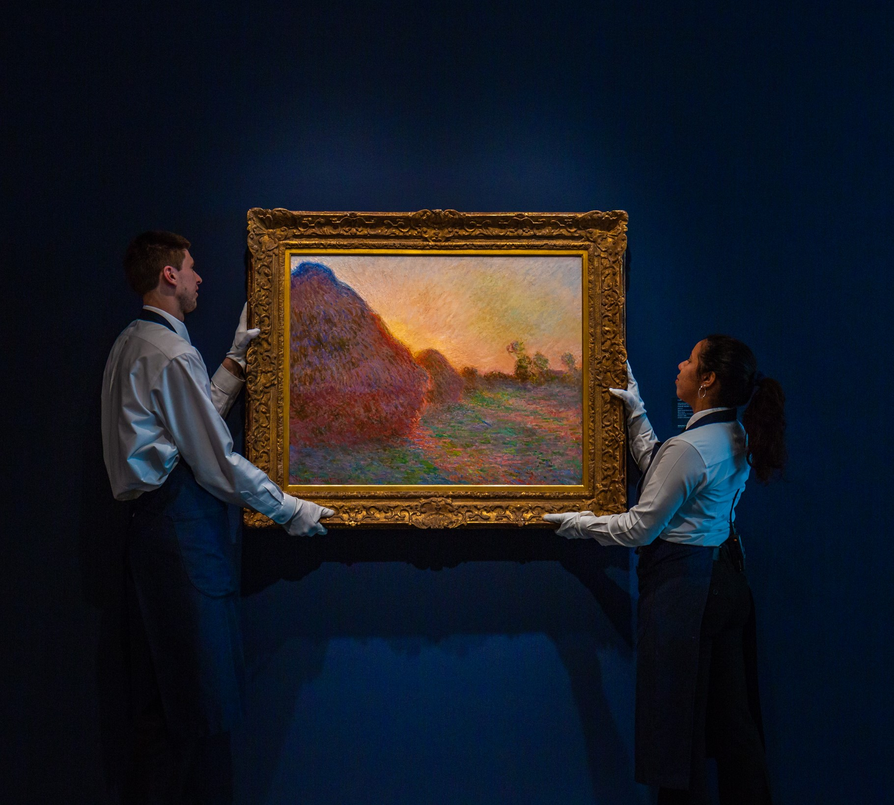 Claude Monet, « Les meules », estimation : plus de 55 millions de dollars, adjugé 110,7 millions de dollars, vente Sotheby's New York, 14 mai. Copyright : Sotheby's.