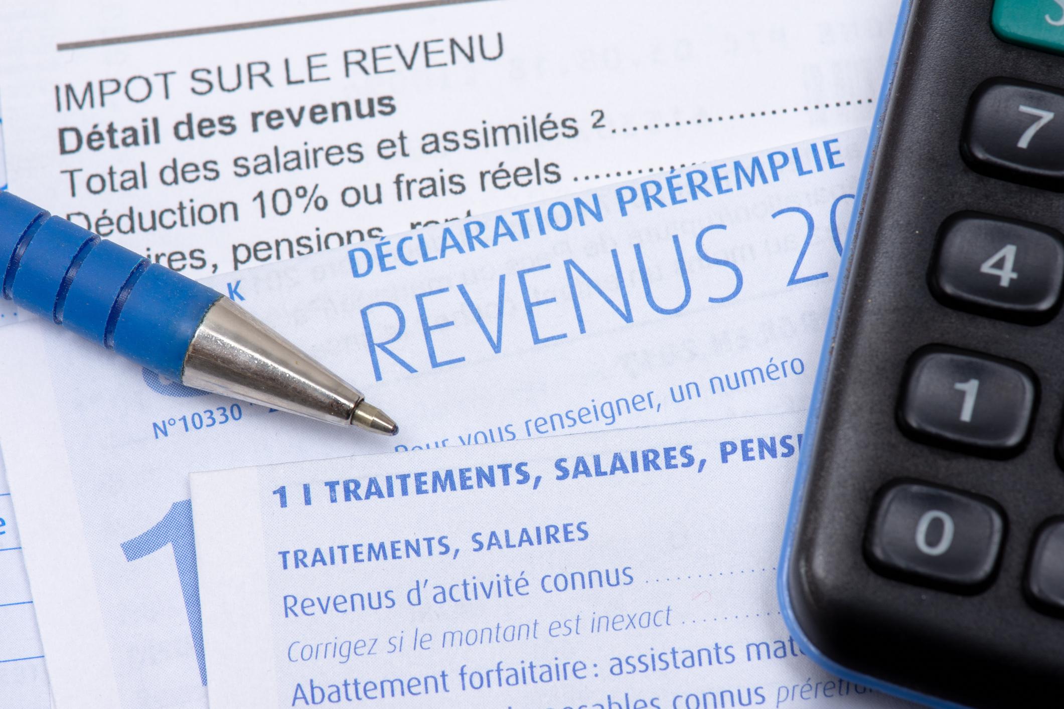 Déclaration impôt revenus prélèvement à la source